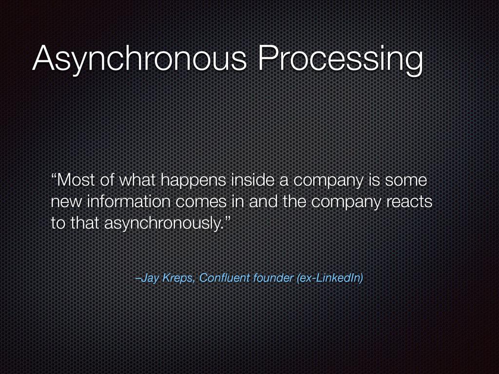 "–Jay Kreps, Confluent founder (ex-LinkedIn) ""Mos..."