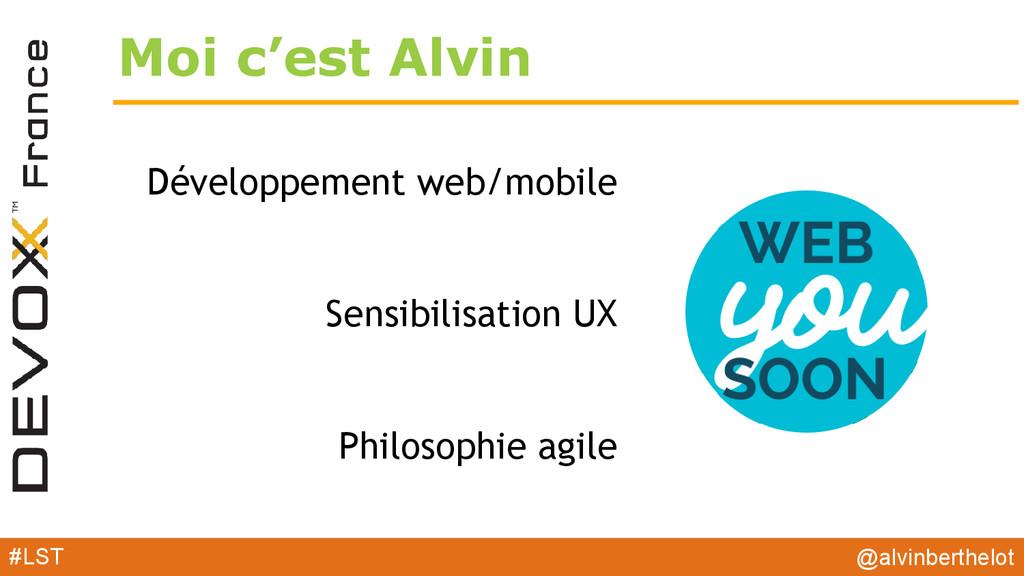 Moi c'est Alvin Développement web/mobile Sensib...