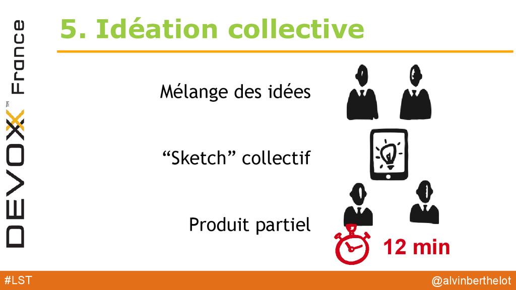 """5. Idéation collective Mélange des idées """"Sketc..."""
