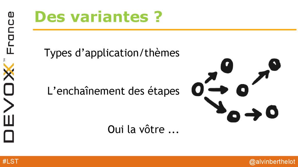 Des variantes ? Types d'application/thèmes L'en...