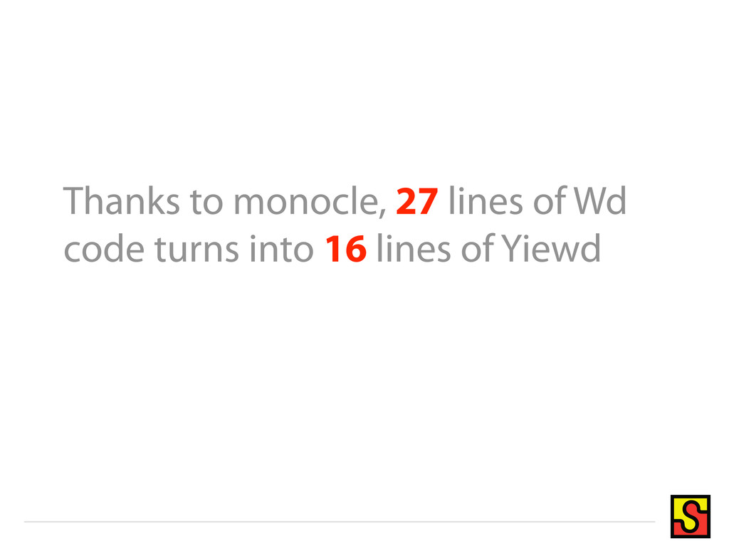 Thanks to monocle, 27 lines of Wd code turns in...