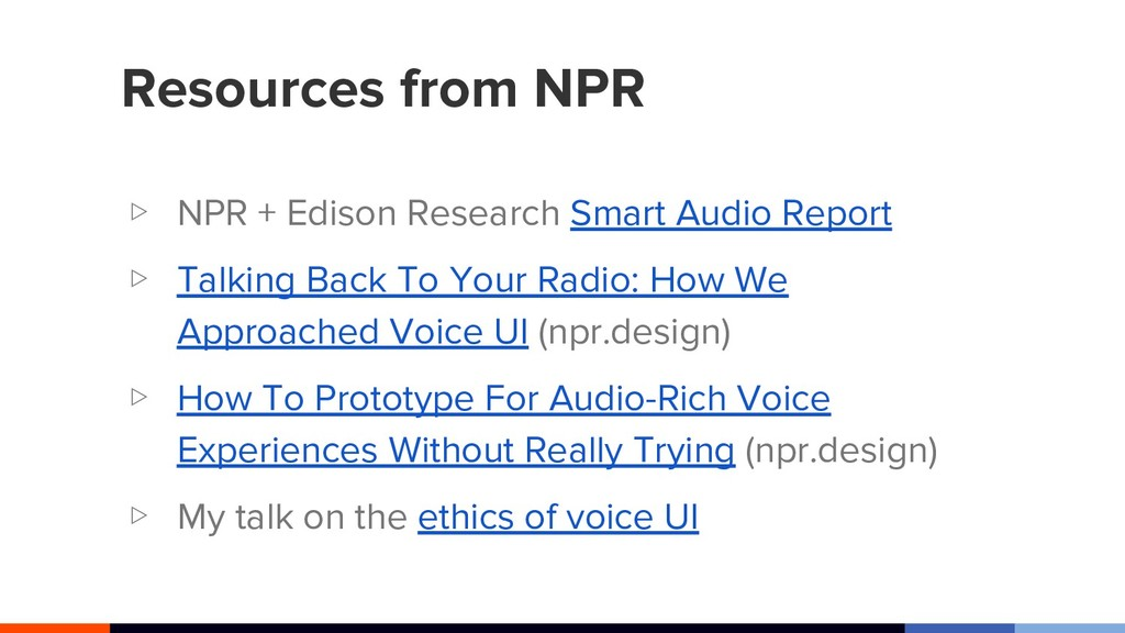 Resources from NPR ▷ NPR + Edison Research Smar...