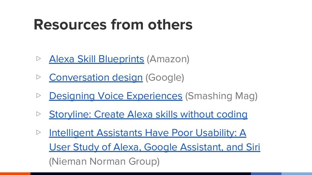 Resources from others ▷ Alexa Skill Blueprints ...