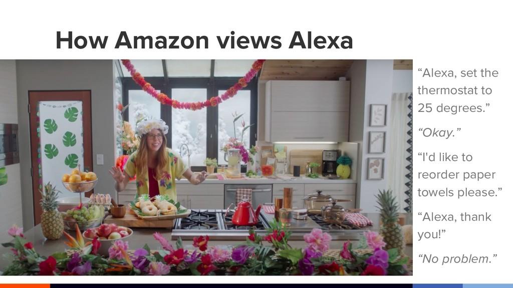 """How Amazon views Alexa """"Alexa, set the thermost..."""