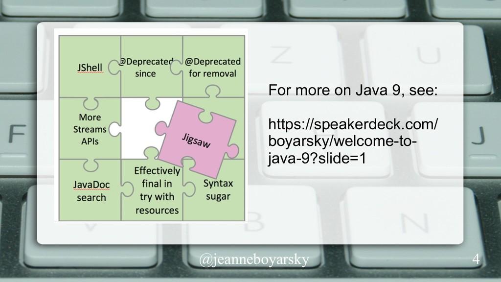 @jeanneboyarsky For more on Java 9, see: https:...