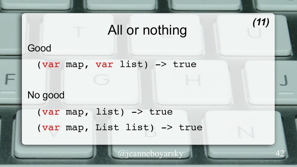 @jeanneboyarsky All or nothing Good (var map, v...