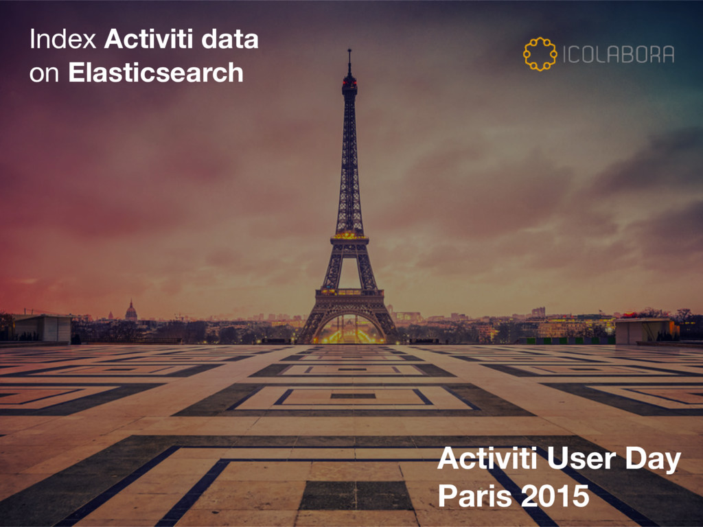 Index Activiti data   on Elasticsearch Activiti...