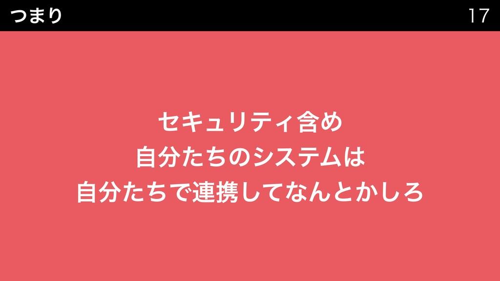 ͭ·Γ   ηΩϡϦςΟؚΊ ࣗͨͪͷγεςϜ ࣗͨͪͰ࿈ܞͯ͠ͳΜͱ͔͠Ζ