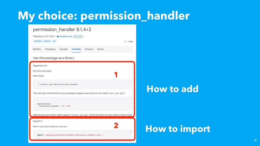 My choice: permission_handler 2 1 How to add Ho...