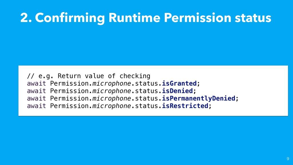 2. Con fi rming Runtime Permission status // e....