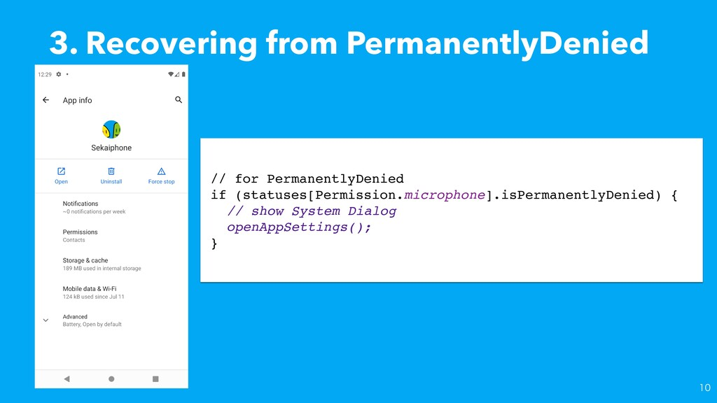 3. Recovering from PermanentlyDenied // for Per...