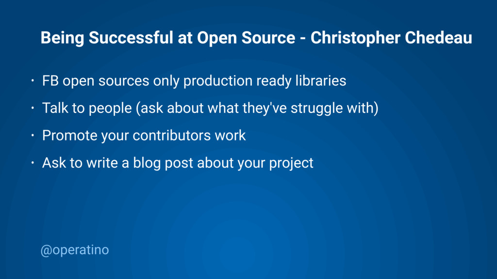 @operatino Being Successful at Open Source - Ch...