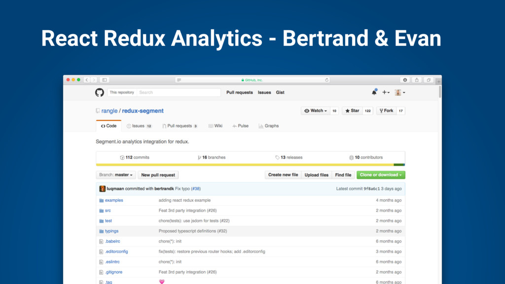 React Redux Analytics - Bertrand & Evan
