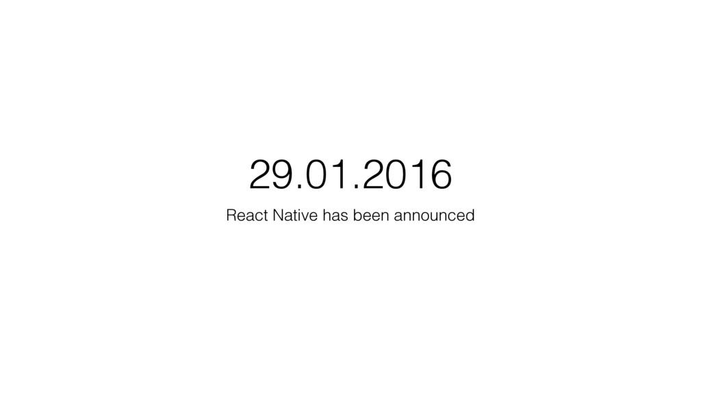29.01.2016 React Native has been announced