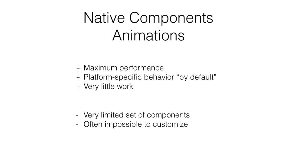 Native Components Animations + Maximum performa...