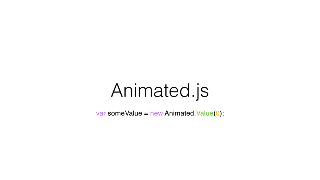 Animated.js var someValue = new Animated.Value(...