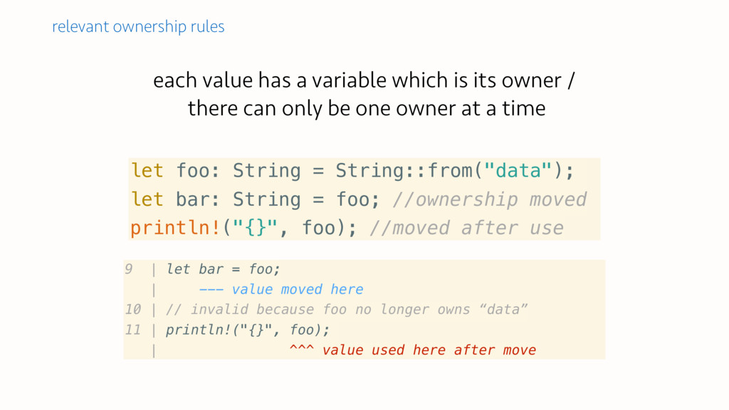each value has a variable which is its owner / ...