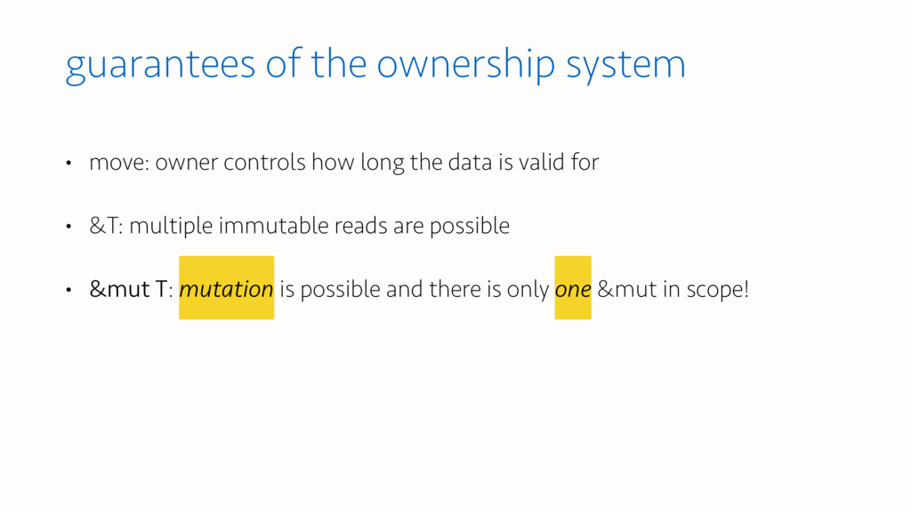 guarantees of the ownership system • move: owne...