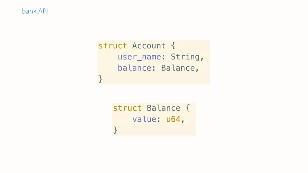 struct Account { user_name: String, balance: Ba...