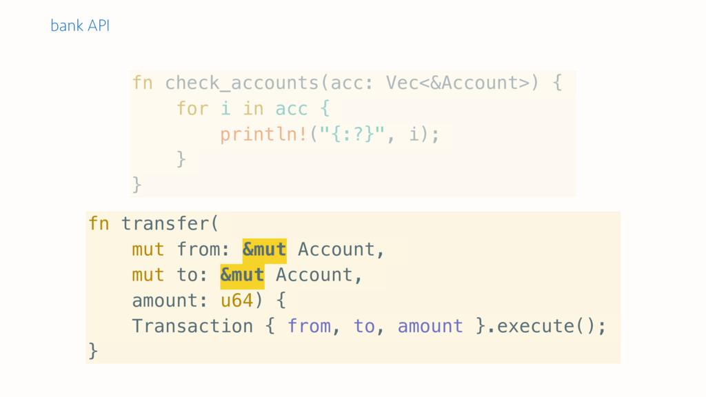 fn check_accounts(acc: Vec<&Account>) { for i i...