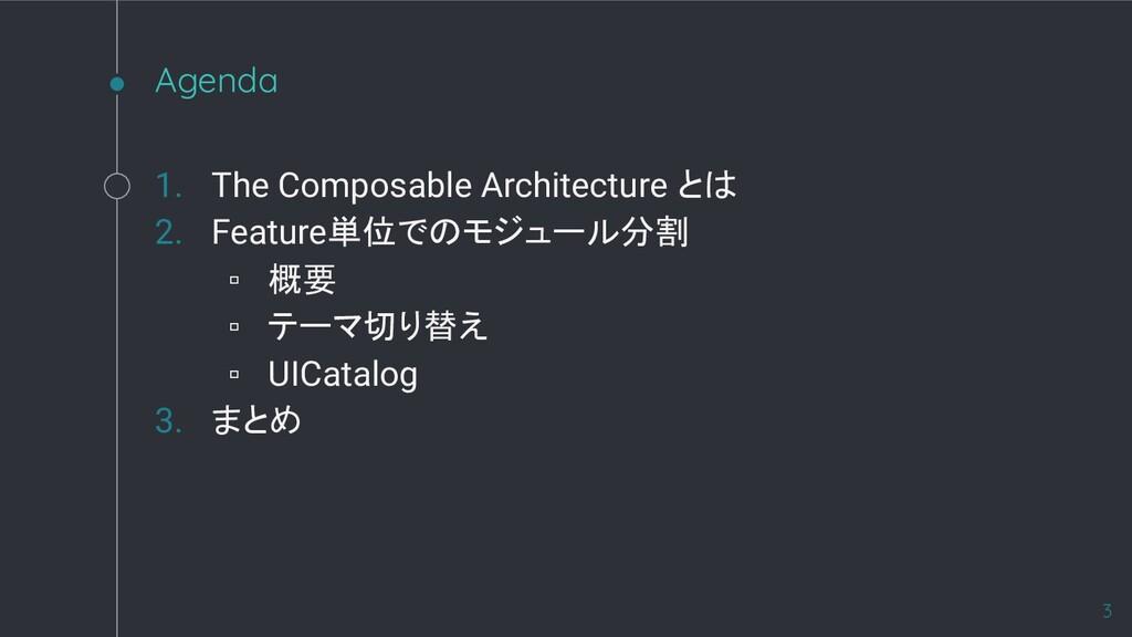 Agenda 1. The Composable Architecture とは 2. Fea...