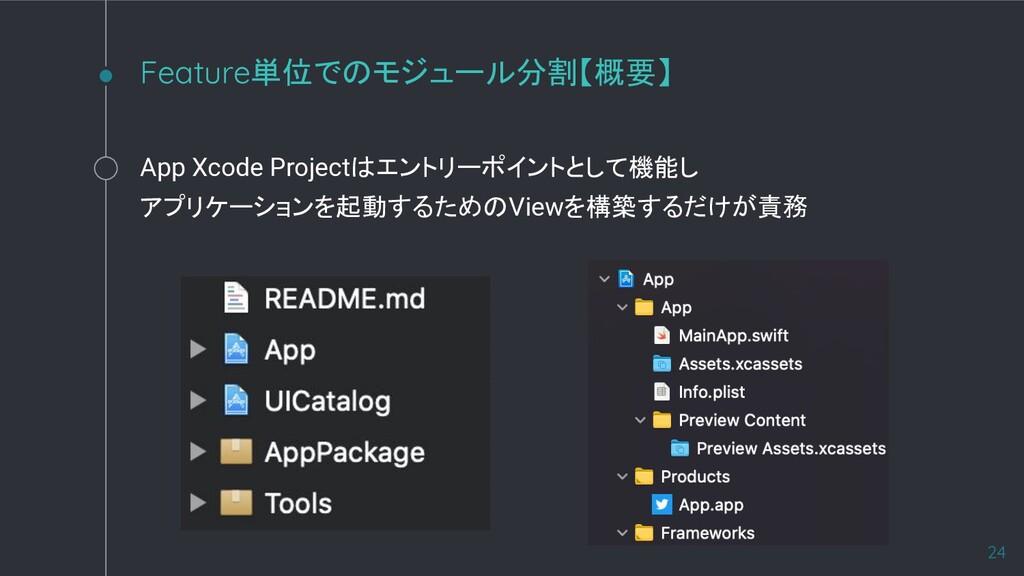 App Xcode Projectはエントリーポイントとして機能し アプリケーションを起動する...