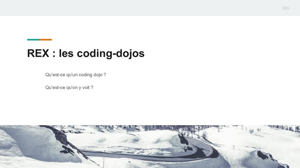REX : les coding-dojos Qu'est-ce qu'un coding d...