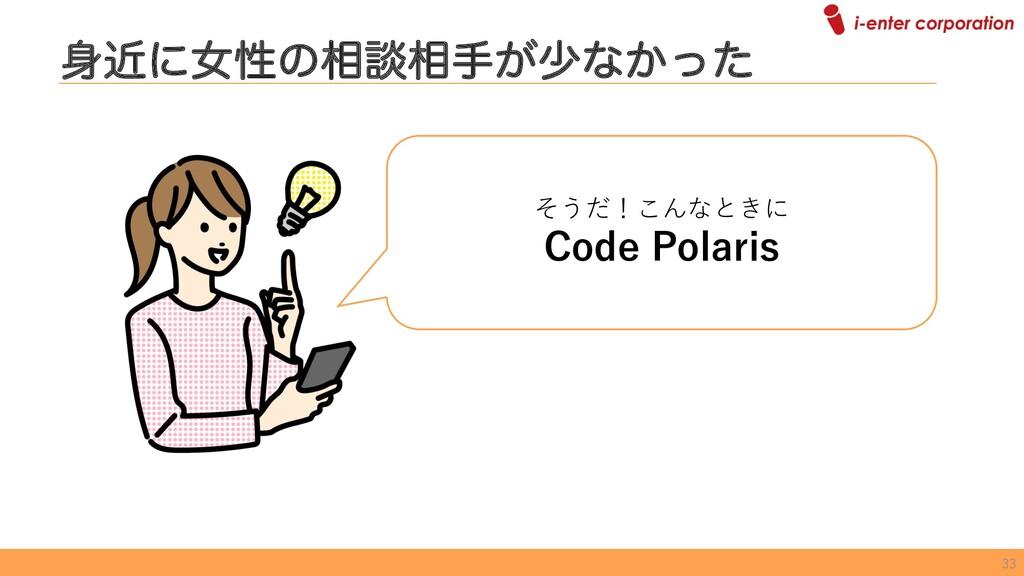 ۙʹঁੑͷ૬ஊ૬ख͕গͳ͔ͬͨ そうだ!こんなときに Code Polaris 33
