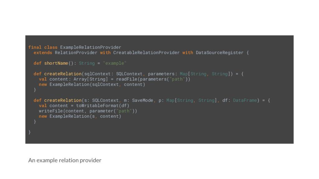 An example relation provider final class Exampl...