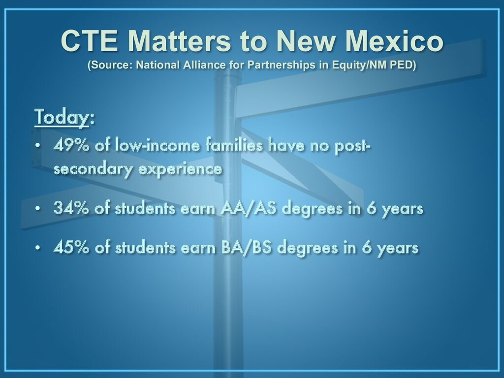 CTE Matters to New Mexico (Source: National All...