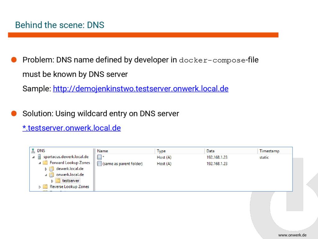 www.onwerk.de Behind the scene: DNS Problem: DN...