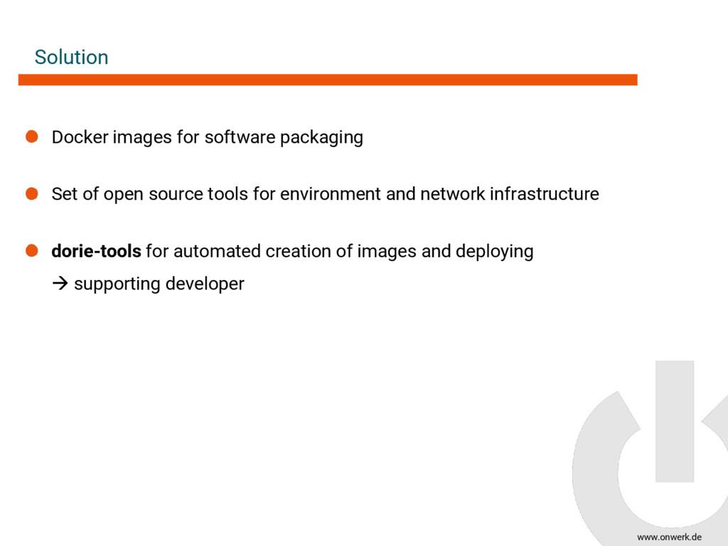 www.onwerk.de Solution Docker images for softwa...