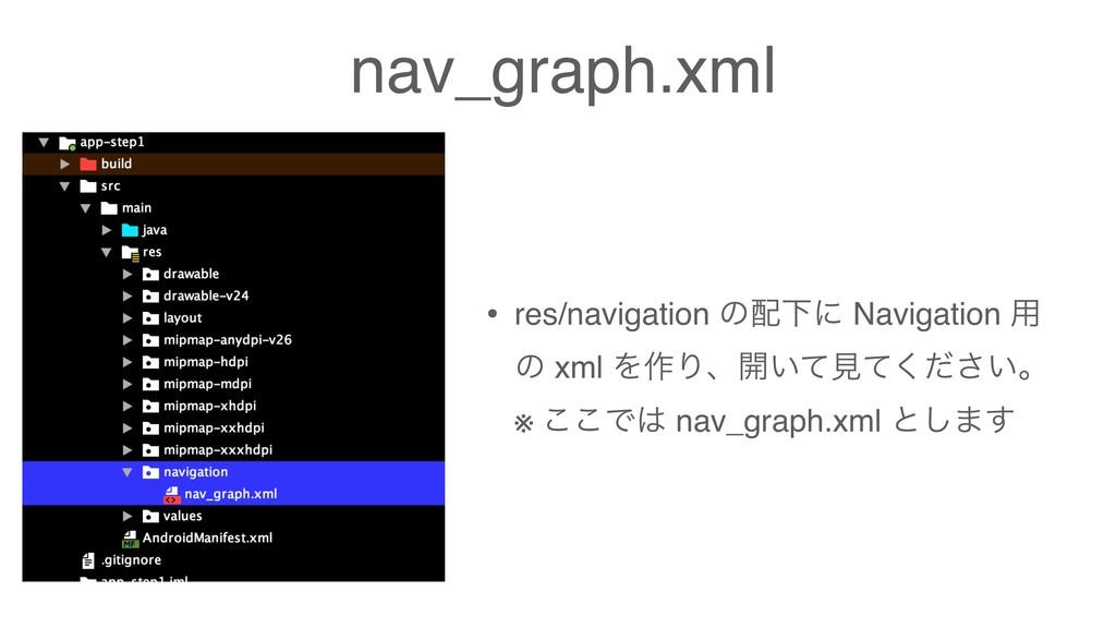 nav_graph.xml • res/navigation ͷԼʹ Navigation ...