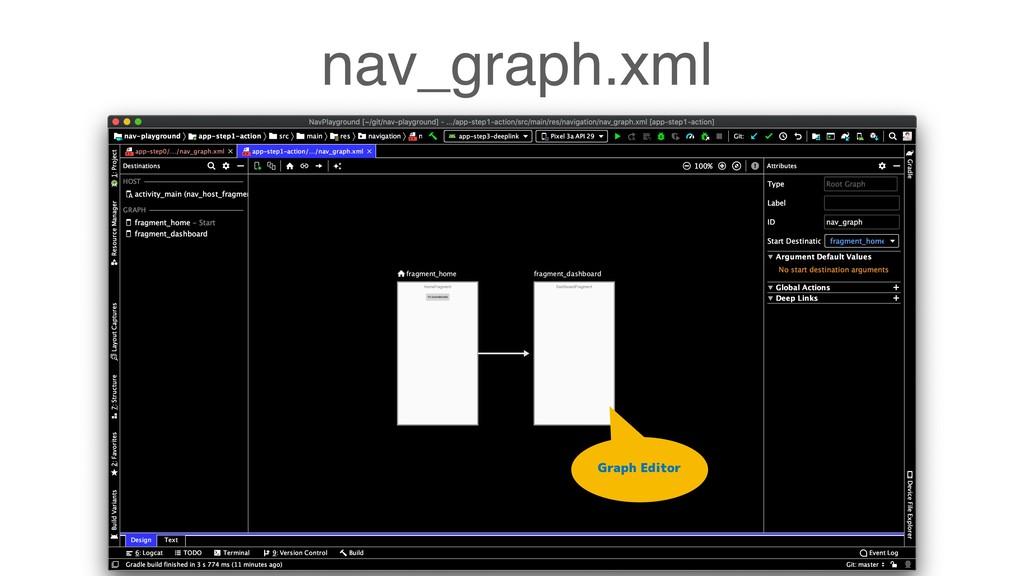 nav_graph.xml Graph Editor
