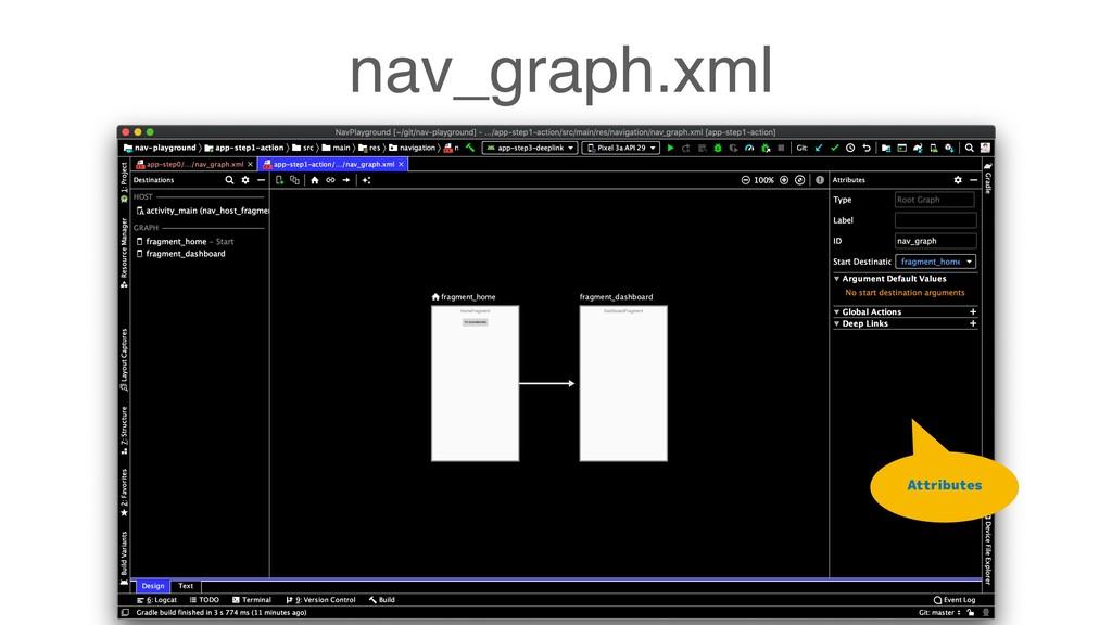 nav_graph.xml Attributes