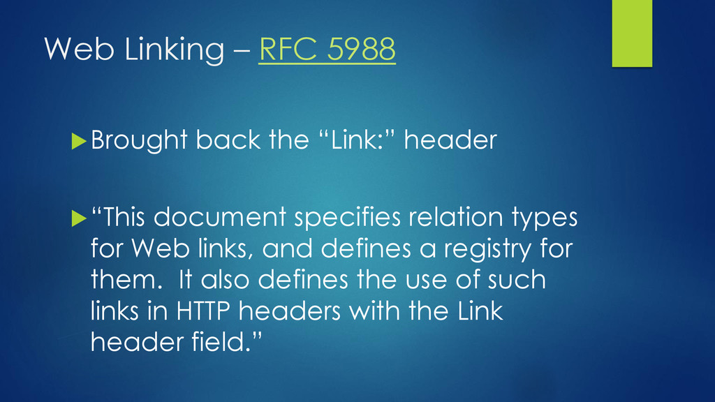 "Web Linking – RFC 5988 Brought back the ""Link:..."