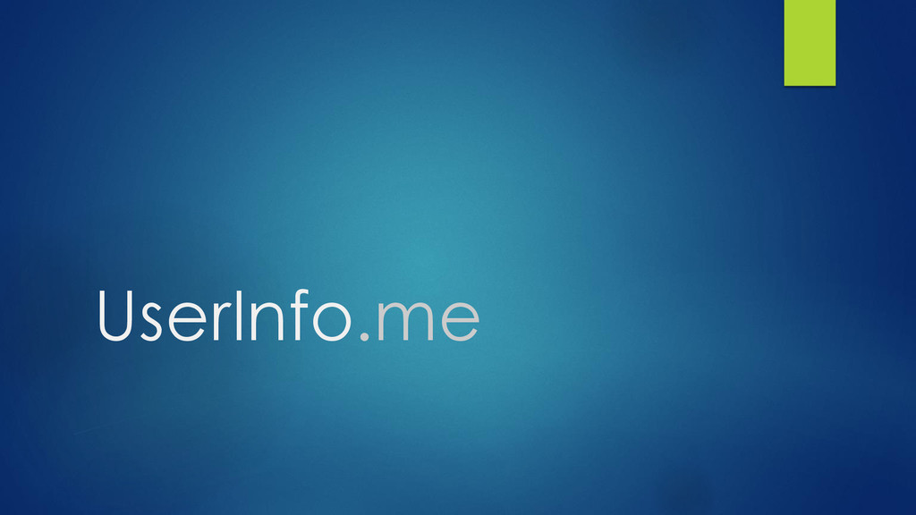 UserInfo.me
