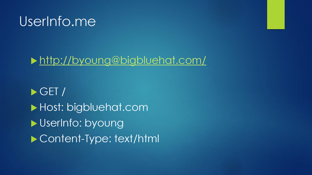 UserInfo.me  http://byoung@bigbluehat.com/  G...