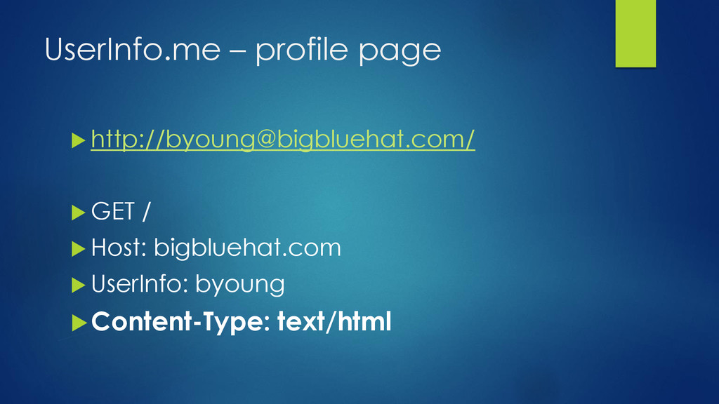 UserInfo.me – profile page  http://byoung@bigb...