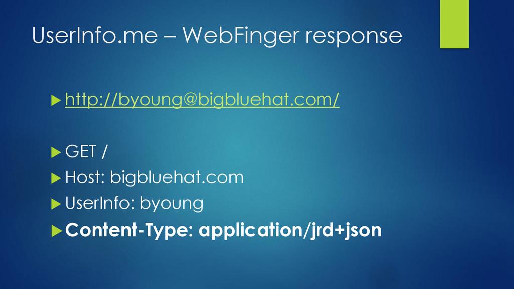 UserInfo.me – WebFinger response  http://byoun...