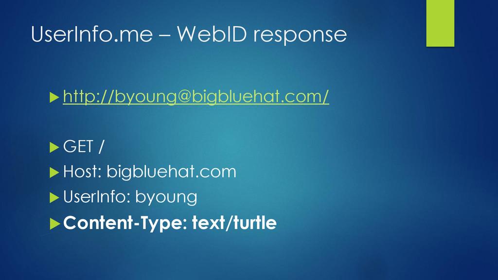 UserInfo.me – WebID response  http://byoung@bi...