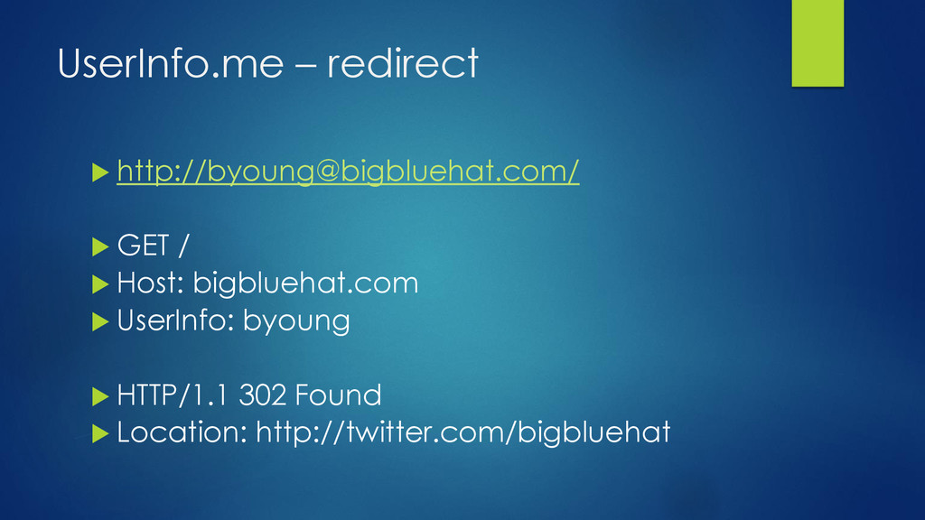 UserInfo.me – redirect  http://byoung@bigblueh...