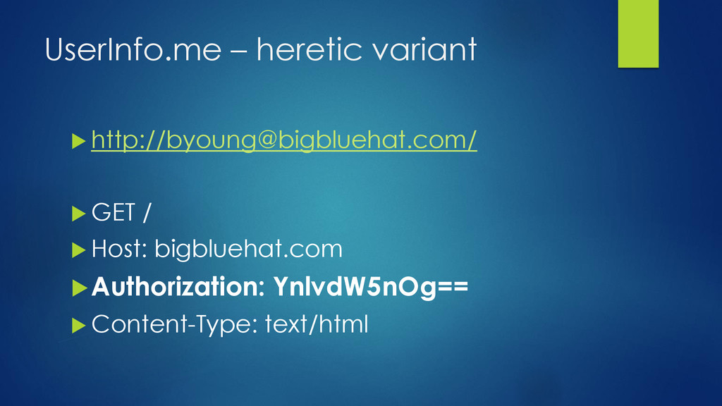 UserInfo.me – heretic variant  http://byoung@b...