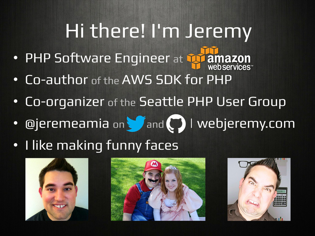 "Hi there! I'm Jeremy! •  PHP So""ware Engineer a..."
