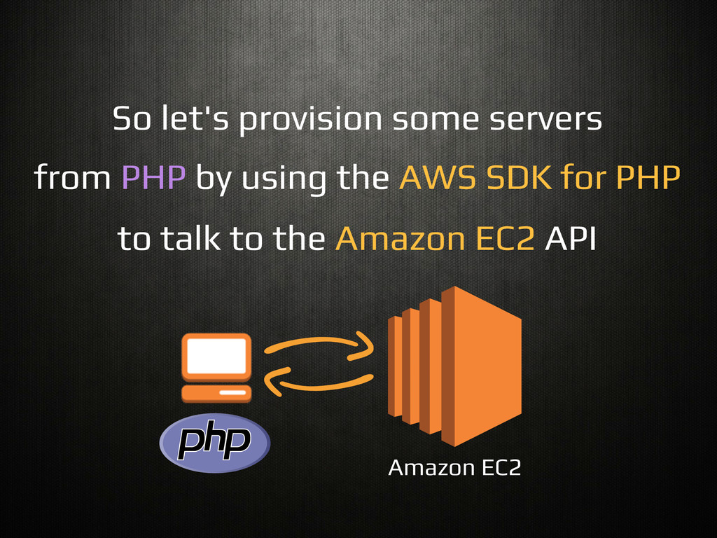 So let's provision some servers! from PHP by us...
