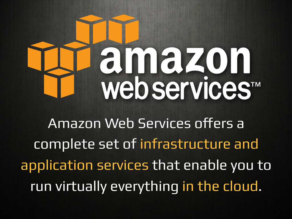 Amazon Web Services o#ers a complete set of inf...