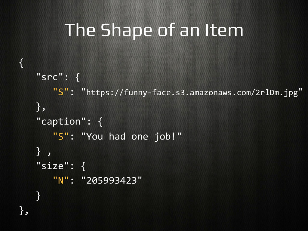 The Shape of an Item! {	