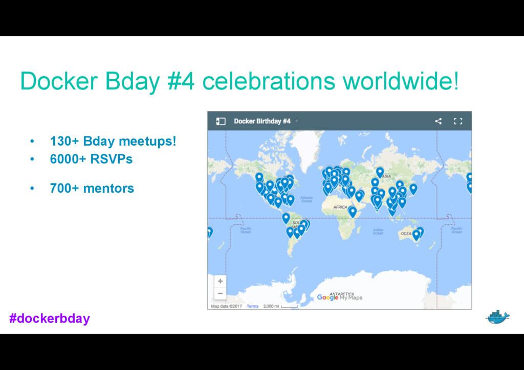Docker Bday #4 celebrations worldwide! • 130+ B...