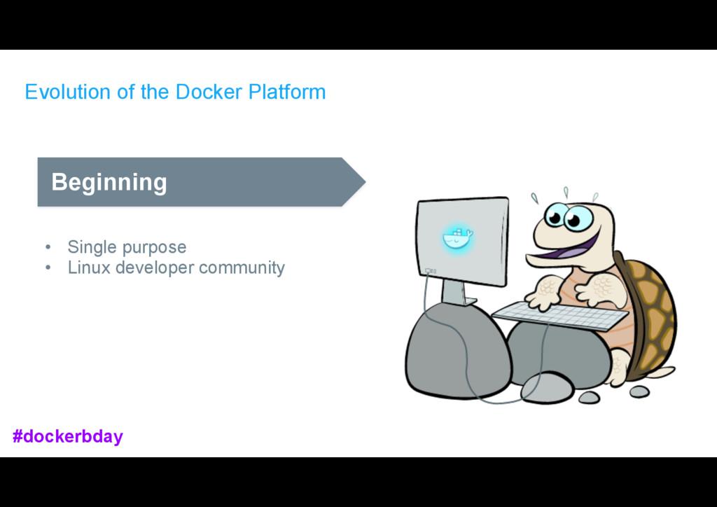 Evolution of the Docker Platform Beginning • Si...