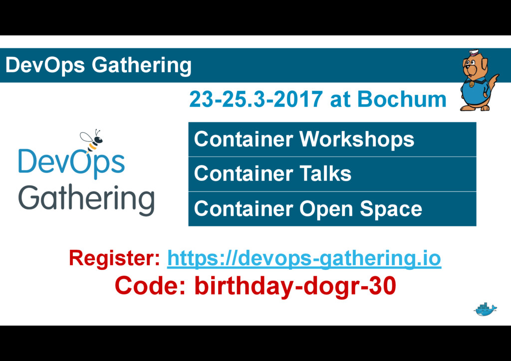 DevOps Gathering Container Workshops Container ...